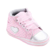 YJYdada Baby Walkers Infants Canvas Lace-up Boots Sneaker Anti-slip Crib Shoes (12