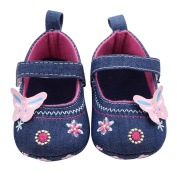 YJYdada Cute Butterfly Mary Jane Shoes Soft Sole Prewalker for Baby Toddlers Infants(12