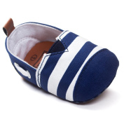 YJYdada Baby Toddlers Infants Soft Sole First Walker Shoes Canvas Stripe Crib Shoes(12