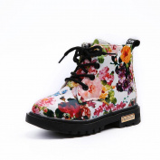 Besde Baby Sneaker Floral Kids Shoes Baby Martin Boots Casual Children Boots