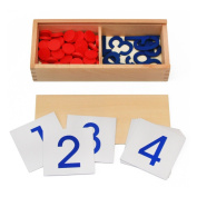 StarMall Number Counting Block Kids Preschool Math Learning Toy Children Educational Toy Wisdom Development Gift Wooden