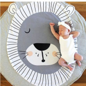 EITC Baby Game Pad Cute Lion Print Cotton Child Crawling Pad Baby Round Play Mats Children's Room Decoration Size 92cm 89.8 cm
