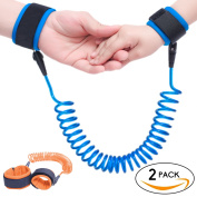 Anti Lost Wrist Link Safety Hook and loop Wrist Link for Toddlers, Babies & Kids (Blue+Orange) by Topsky