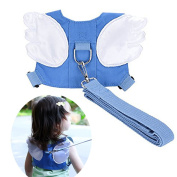 Baby Safety walking Harness-Child Toddler Anti-lost Belt Harness Reins with Leash Kids Assistant Strap Angel Wings Travel Backpack 2017 NEW