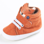 Honhui Baby Girl Boys Fox Hight Cut Sneaker Anti-slip Soft Sole Toddler Shoes (US:4