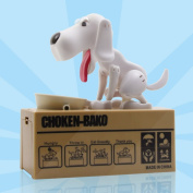 Grandey Actionclub Mechanical Adorable Kid Coin Bank Saving Box Catoon Puppy Hungry Robotic Dog Money Box Collection Piggy Bank