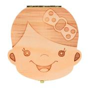 Vanvler Tooth Box Organiser for Baby Milk Teeth Save Memorable Wood Storage Box for Kids Boy & Girl