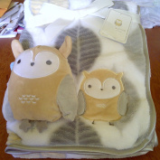Tag Along Friends Baby Blanket With Plush Owl