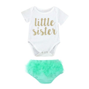 Newborn Baby Girls Clothes Romper, TRENDINAO Kids Girls Tutu Shorts Letter Romper Jumpsuit Outfits Set