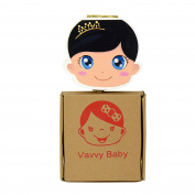 VAVVY BABY Tooth Box for baby milk teeth -Tooth Fairy Box- Tooth keepsake- Milk teeth save organiser -Baby Girl Brunette