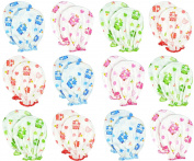 Liwely 12 Pairs Unisex-Baby No Scratch Assorted Mittens, 100% Cotton, Polka Dot Bear & Tiger