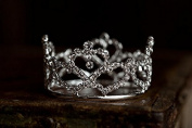 """Abigail"" Mini Rhinestone Crown, Newborn Photography prop, Toddler/Child Flower Girl Princess Tiara"