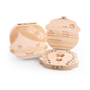 Willway Baby Tooth Keepsake Organiser Wooden Boxes Personality Deciduous Souvenir Box