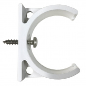 Bracket for Inline Water Filters 5.1cm Diameter with Screw, White