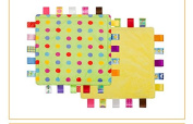 Little Taggies Colours-Style Lovey Security Blanket, Confetti