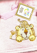 Sleepy Lion Applique on Super Soft Pink Plush Micro Fleece Baby Toddler Security Blanket Velour