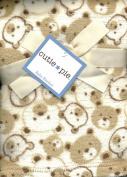 Velour Super Soft Baby Blanket Teddy Bears Ivory