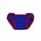 Cute Navy Style Baby Infant Newborn Crochet Beanie Hat Clothes Baby Photograph Props