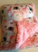Petite L' amour safari baby blanket - pink