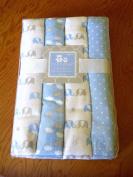 Cribmates Flannel Receiving Blanket Set 4, 100% Cotton