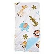 Baby Boy Lollypop Animal Blanket Sherpa Reverse