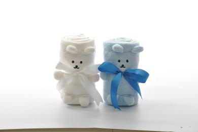 Aimashu Super Soft Cute Animal Style Baby Blanket (80cm x 100cm , blue)