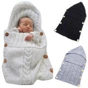 DALAI 1pc Newborn Wrap Blanket Toddler Baby Wool Knit Blanket Sleeping Bag Sack Stroller Wrap