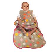 Gunamuna Printed Plush Fleece Gunapod Wearable Baby Sleepsack, Multi-Dot, Medium