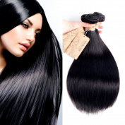 MONIKAHAIR Brazilian Virgin Human Hair 3 Bundles 300g Straight 8A Grade Remy Human Hair Weaves Extensions Natural Black