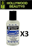 HollyWood Beauty Multi Pack oils 60ml Coconut Oil pack of 3