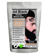 1 Pack of Jet Black Henna Beard Dye for Men - 100% Natural & Chemical Free Dye for Hair, Beard, Moustache & Eyebrows - The Henna Guys