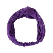 Ikevan Newest Women Head Wrap Diamond Hair Band Headwear Turban Twist Headband