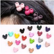 20pcs Girls Rabbit Mini Hair Claws Hair Bangs Hair Pin For Little Girls Mix Coloured