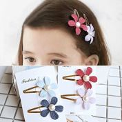 Healthcom Hair Clips Flower Hair Barrettes Snap Hair Clips No Slip Metal Hair Clip Barrettes For Girls Toddlers Kids Teens,14 Pcs