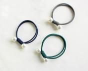 Accessories Elastic Ties Colours Ties 3pcs(1pcs Blue,1pcs Green,1pcs Grey) for Girl Women