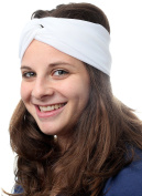White Headband Head Covering Jewish Pre Tied Tichel Hair Snood Bandana Mitpachat