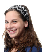 Black Headband Head Covering Jewish Pre Tied Tichel Hair Snood Bandana Mitpachat