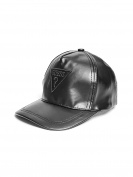 GUESS Factory Boy's Faux-Leather Baseball Hat