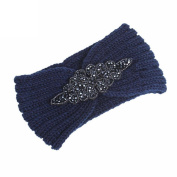 YJYdada Women Knitting Headband Handmade Keep Warm Bohemia Diamond Hairband