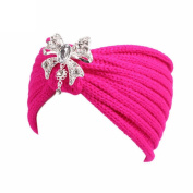 YJYdada Women Winter Knitting Headband Handmade Bow Hairband Keep Warm