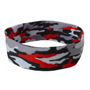 YJYdada Women Men Sport Sweatband Headband Yoga Gym Stretch Camouflage Head Band Hairband
