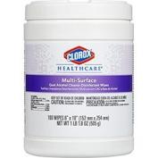 Clorox Healthcare Multi-Surface Quat Alcohol Cleaner Disinfectant 100 Wipes 31335