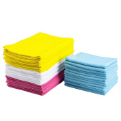 XLY Ultra Soft Microfiber Cleaning Cloths for Everyday Use, 30cm x 41cm , 50 Pack for Car Kitchen