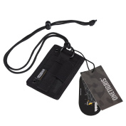 OneTigris Tactical ID Card Holder Hook & Loop Patch Badge Holder Neck Lanyard Key Ring and Credit Card Organiser