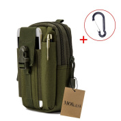 Mokasi Tactical MOLLE Pouch EDC Utility Waist Belt Gadget Gear Bag Tool Organiser with Cell Phone Holster Holder