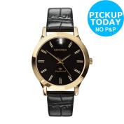 Sekonda Men's Diamond Black Strap Watch. From The Official Argos Shop On