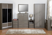 Seconique Lisbon Black Bedroom Furniture Range - Wardrobe, Drawers & Bedside