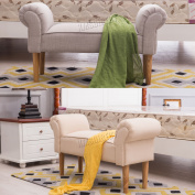 Foxhunter Fabric Bench Footstool Seat Pouffe Pouffee Ottoman Stool Bedroom Lounge