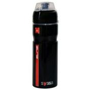 Elite Syssa Alloy Flip Top Cap Bike Cycling Hydration Water Bottle 750ml