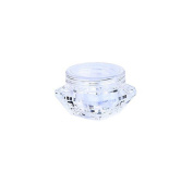 Goege 5 Gramme Jar 5ML Clear Empty Plastic Pot Containers Refillable Cosmetic Lotion Diamond Container Screw Cap Lid